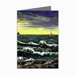 Cosgriff Point Lighthouse -AveHurley ArtRevu.com- Mini Greeting Card