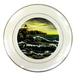 Cosgriff Point Lighthouse -AveHurley ArtRevu.com- Porcelain Plate