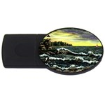 Cosgriff Point Lighthouse -AveHurley ArtRevu.com- USB Flash Drive Oval (4 GB)