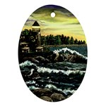 Cosgriff Point Lighthouse -AveHurley ArtRevu.com- Oval Ornament (Two Sides)