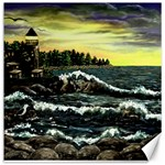 Cosgriff Point Lighthouse -AveHurley ArtRevu.com- Canvas 12  x 12