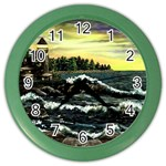 Cosgriff Point Lighthouse -AveHurley ArtRevu.com- Color Wall Clock