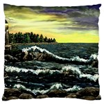 Cosgriff Point Lighthouse -AveHurley ArtRevu.com- Large Cushion Case (One Side)