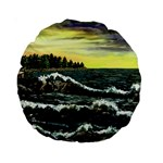 Cosgriff Point Lighthouse -AveHurley ArtRevu.com- Standard 15  Premium Round Cushion