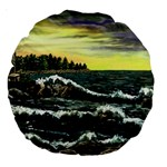 Cosgriff Point Lighthouse -AveHurley ArtRevu.com- Large 18  Premium Round Cushion