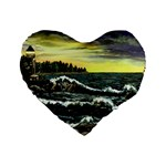 Cosgriff Point Lighthouse -AveHurley ArtRevu.com- Standard 16  Premium Heart Shape Cushion