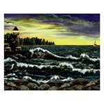 Cosgriff Point Lighthouse -AveHurley ArtRevu.com- 8  x 10  Desktop Photo Plaque