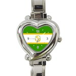 African_Union Heart Italian Charm Watch