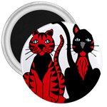 Cool Cats 3  Button Magnet