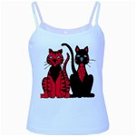 Cool Cats Baby Blue Spaghetti Tank
