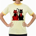 Cool Cats Women s Ringer T-shirt (Colored)