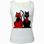 Cool Cats Women s Tank Top (White)