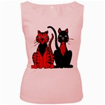 Cool Cats Women s Tank Top (Pink)