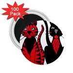 Cool Cats 2.25  Button Magnet (100 pack)