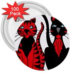 Cool Cats 3  Button (100 pack)