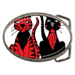 Cool Cats Belt Buckle (Oval)