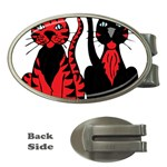 Cool Cats Money Clip (Oval)