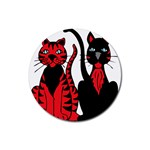 Cool Cats Drink Coasters 4 Pack (Round)