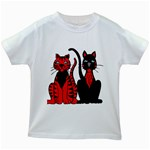 Cool Cats Kids T-shirt (White)