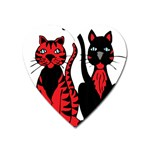 Cool Cats Magnet (Heart)
