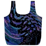 Blue Universe -AveHurley ArtRevu.com- Full Print Recycle Bag (XL)