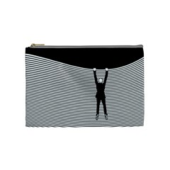 """hang On! Hang On!"" Cosmetic Bag (medium) by doodlelabel"