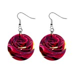 Rose 2 1  Button Earrings