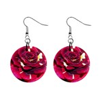 Rose 1 1  Button Earrings