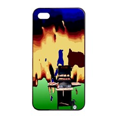 Barbaque Apple Iphone 4/4s Seamless Case (black) by Contest1852090