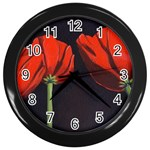 Tulips Wall Clock (Black)