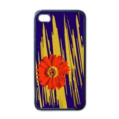 Red Flower Apple Iphone 4 Case (black) by Contest1852090