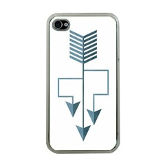 Arrow Paths Apple Iphone 4 Case (clear) by Contest1888309