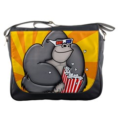 Cinema Gorilla Sq 3500px Messenger Bag by CaterinaBassano