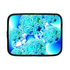 Blue Ice Crystals, Abstract Aqua Azure Cyan Netbook Case (Small) from Diane Clancy Art Front