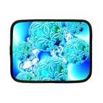 Blue Ice Crystals, Abstract Aqua Azure Cyan Netbook Case (Small)