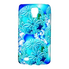 Blue Ice Crystals, Abstract Aqua Azure Cyan Samsung Galaxy S4 Active (I9295) Hardshell Case from Diane Clancy Art Front