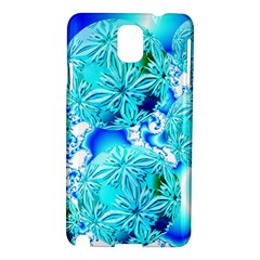Blue Ice Crystals, Abstract Aqua Azure Cyan Samsung Galaxy Note 3 N9005 Hardshell Case from Diane Clancy Art Front