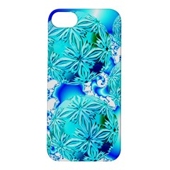 Blue Ice Crystals, Abstract Aqua Azure Cyan Apple iPhone 5S Hardshell Case from Diane Clancy Art Front