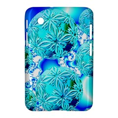 Blue Ice Crystals, Abstract Aqua Azure Cyan Samsung Galaxy Tab 2 (7 ) P3100 Hardshell Case  from Diane Clancy Art Front