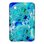 Blue Ice Crystals, Abstract Aqua Azure Cyan Samsung Galaxy Tab 2 (7 ) P3100 Hardshell Case