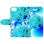 Blue Ice Crystals, Abstract Aqua Azure Cyan Apple iPhone 5C Leather Folio Case