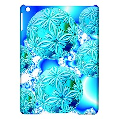 Blue Ice Crystals, Abstract Aqua Azure Cyan Apple iPad Air Hardshell Case from Diane Clancy Art Front