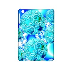 Blue Ice Crystals, Abstract Aqua Azure Cyan Apple iPad Mini 2 Hardshell Case from Diane Clancy Art Front