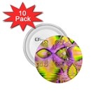 Golden Violet Crystal Heart Of Fire, Abstract 1.75  Button (10 pack)