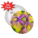 Golden Violet Crystal Heart Of Fire, Abstract 2.25  Button (100 pack)