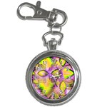 Golden Violet Crystal Heart Of Fire, Abstract Key Chain Watch