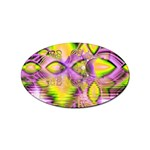 Golden Violet Crystal Heart Of Fire, Abstract Sticker (Oval)