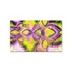 Golden Violet Crystal Heart Of Fire, Abstract Sticker (Rectangle)