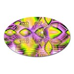 Golden Violet Crystal Heart Of Fire, Abstract Magnet (Oval)