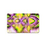 Golden Violet Crystal Heart Of Fire, Abstract Magnet (Name Card)